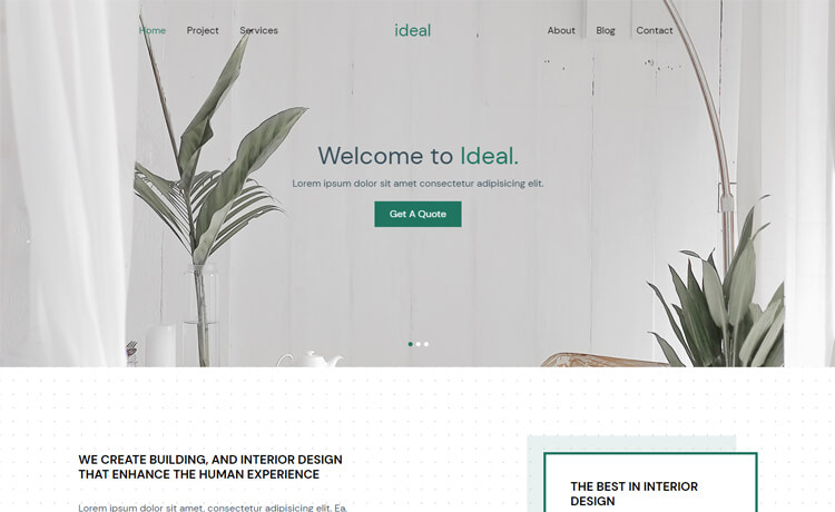 Free Bootstrap 4 HTML5 Interior Design Agency Website Template