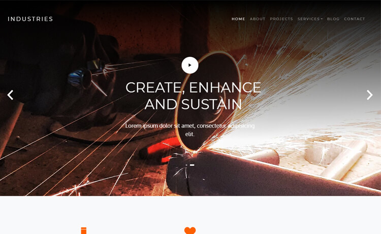 Free Bootstrap 4 HTML5 Business Agency Website Template