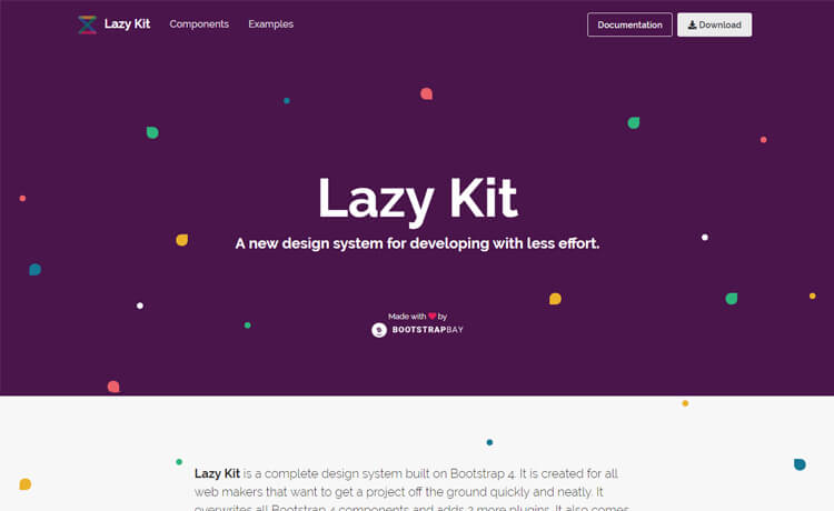 Free Responsive Bootstrap 4 UI Kit For Web Designers and Developers