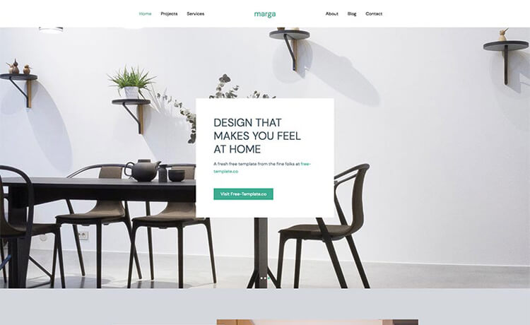 Free Bootstrap 4 HTML5 Responsive Interior Design Agency Website Template