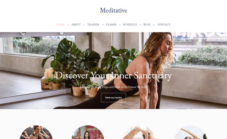 Free Bootstrap 4 HTML5 Responsive Yoga Website Template