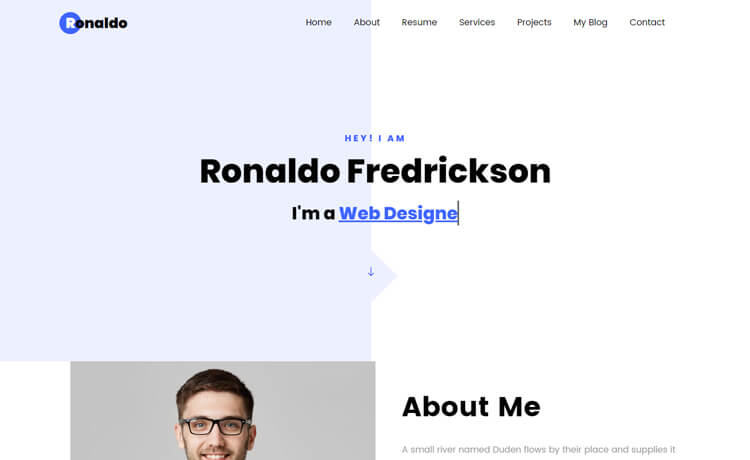Free Bootstrap 4 HTML5 One-page Personal Portfolio Website Template