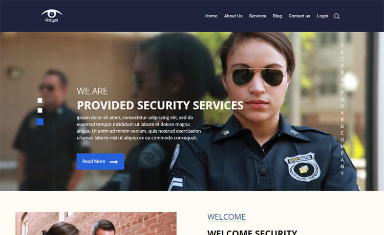 free Bootstrap 4 HTML5 security agency website template