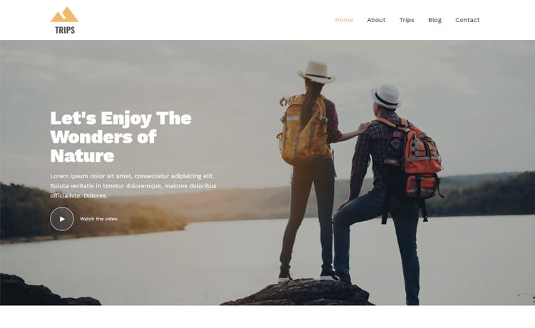 Free Bootstrap 4 HTML5 Travel Business Website Template