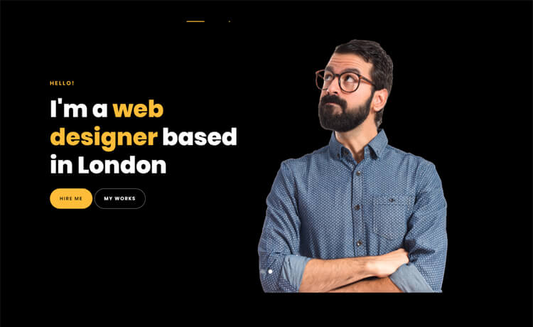 Free One-page Bootstrap 4 HTML5 Personal Portfolio Website Template