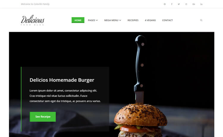 Free Bootstrap 4 HTML5 recipe Website Template