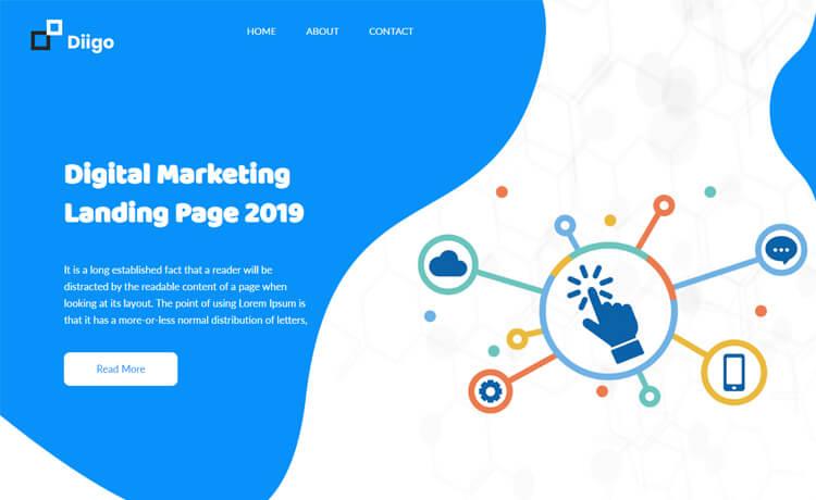 Free Bootstrap 4 HTML5 Digital Marketing Agency Website Template