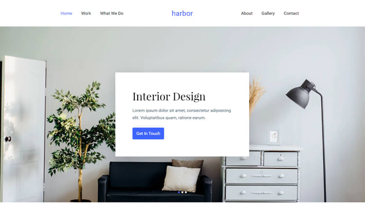 Free Bootstrap 4 HTML5 Interior Design Portfolio Website Template