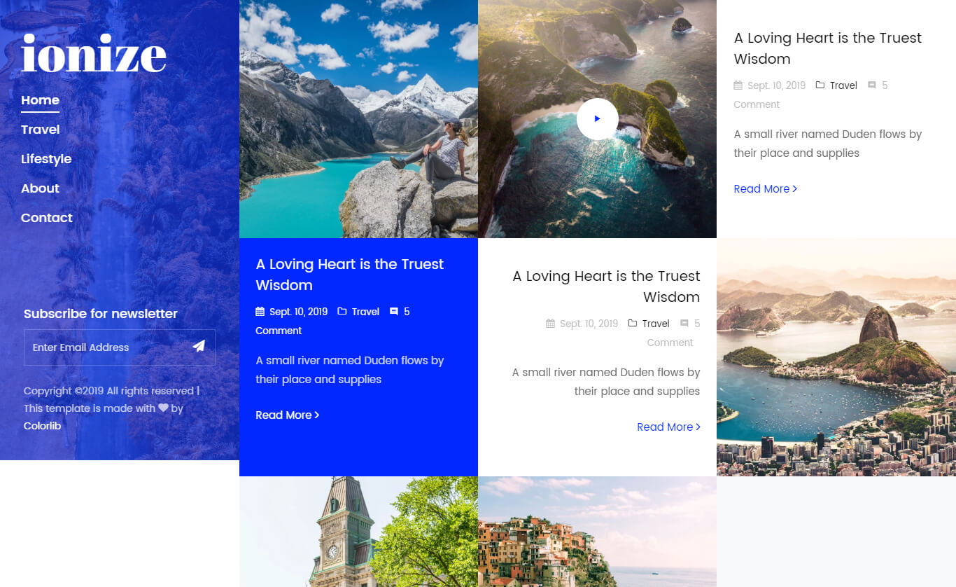 Free Multi-page Bootstrap 4 HTML5 Responsive Blog Template