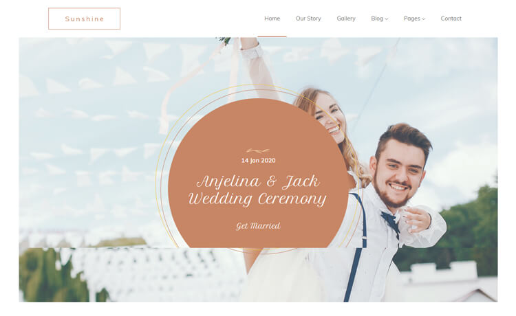 Free Bootstrap 4 HTML5 Responsive Wedding Website Template
