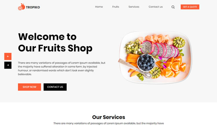 Free Bootstrap 4 HTML5 Online Store Website Template