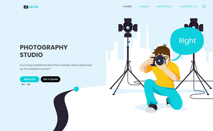 Free Bootstrap 4 HTML5 Photography Studio Website Template