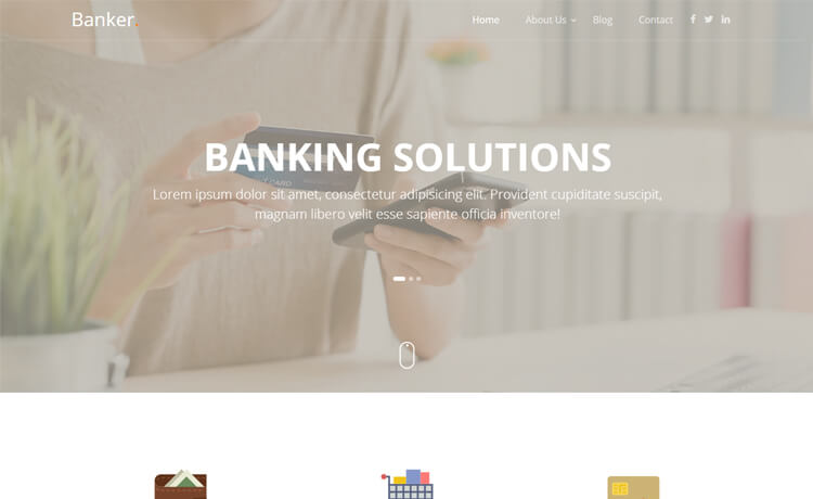 Free Bootstrap 4 HTML5 Banking Website Template