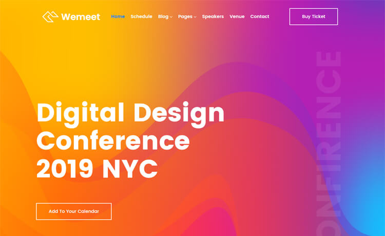 Free Bootstrap 4 HTML5 Event Management Website Template