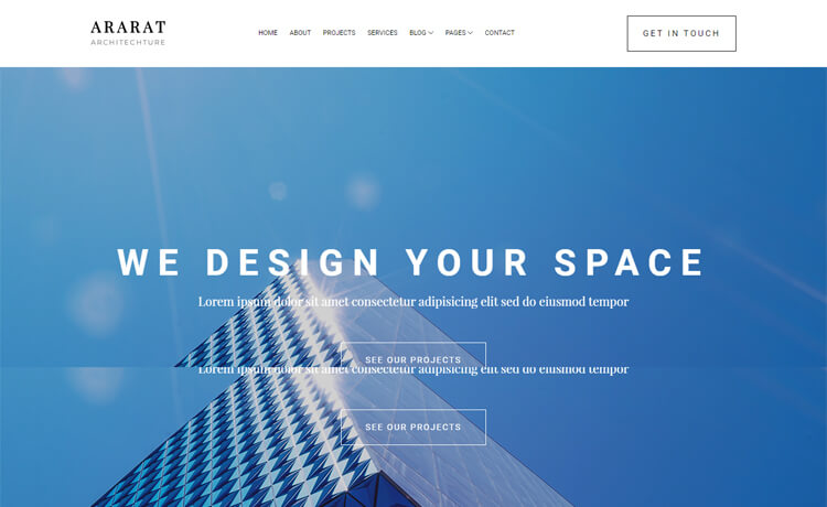 Free Bootstrap 4 HTML5 Architecture Website Template