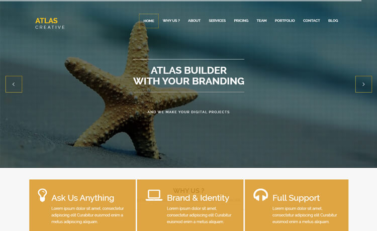 Free HTML5 Bootstrap 4 Business Website Template