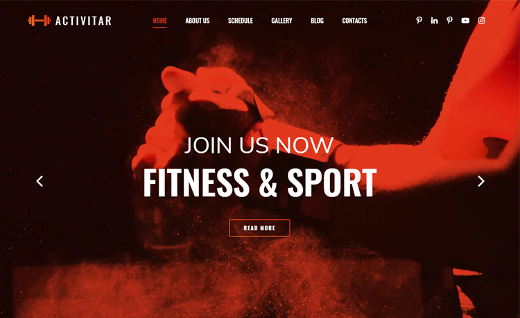 Free Bootstrap 4 HTML5 Responsive Fitness Website Template