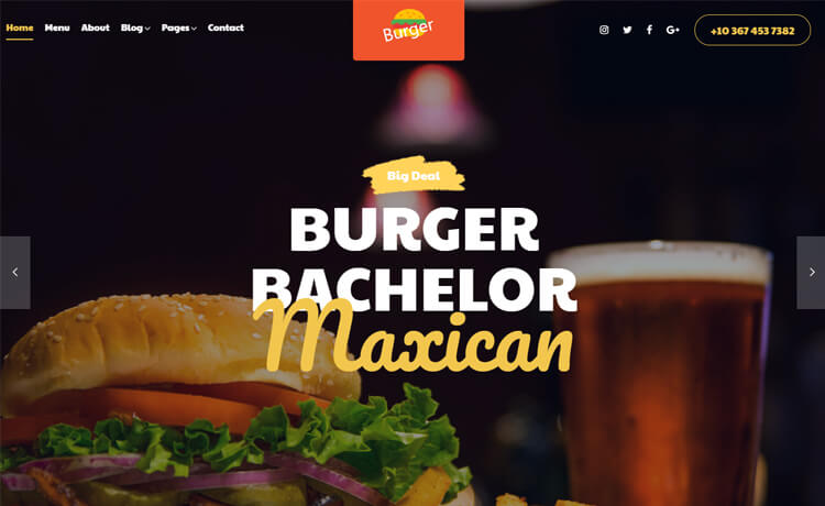 Free Bootstrap 4 HTML5 Responsive Food Website Template