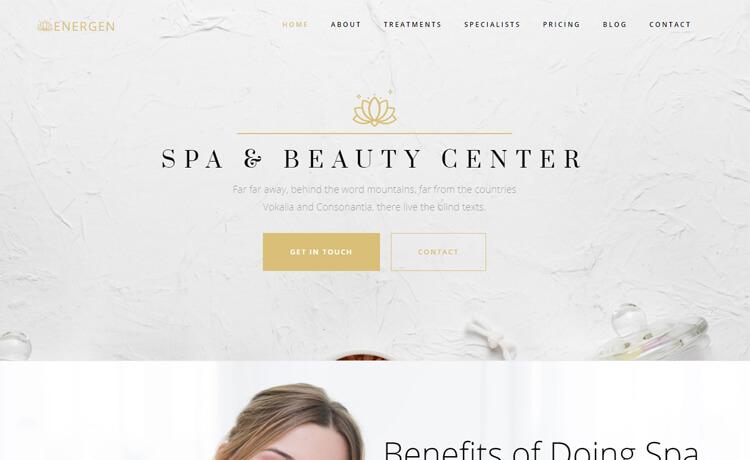 Free Bootstrap 4 HTML5 Beauty Salon Website Template