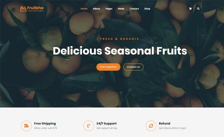 Free HTML5 Bootstrap 4 Ecommerce Website Template