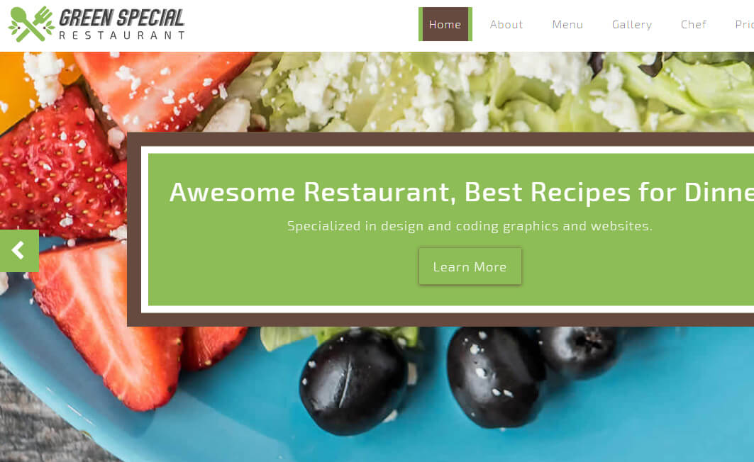 Free Bootstrap 4 HTML5 Restaurant Website Template