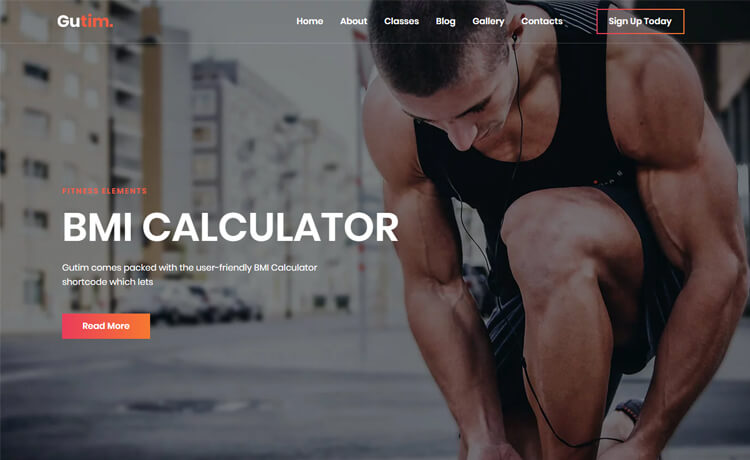 Free Bootstrap 4 HTML5 Fitness Website Template