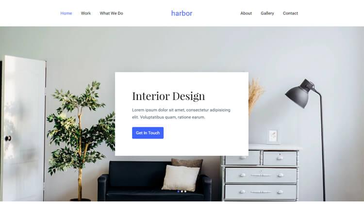 Free Bootstrap 4 HTML5 Interior Design Portfolio Website Template