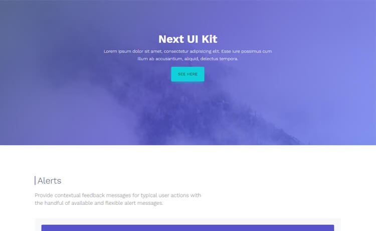 Free Bootstrap 4 HTML5 UI Kit Template