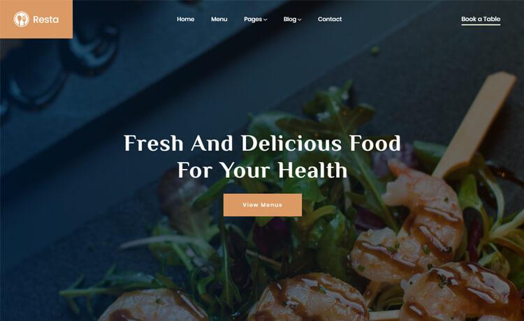 Free Bootstrap 4 HTML5 Responsive Restaurant Website Template