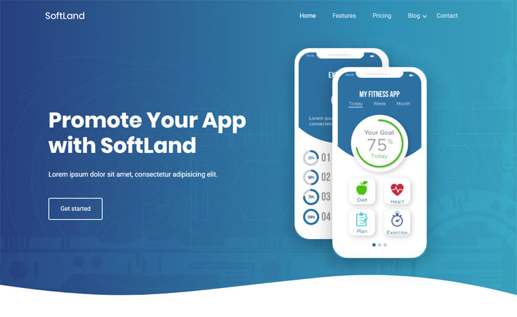 Free Bootstrap 4 HTML5 App Landing Page Template