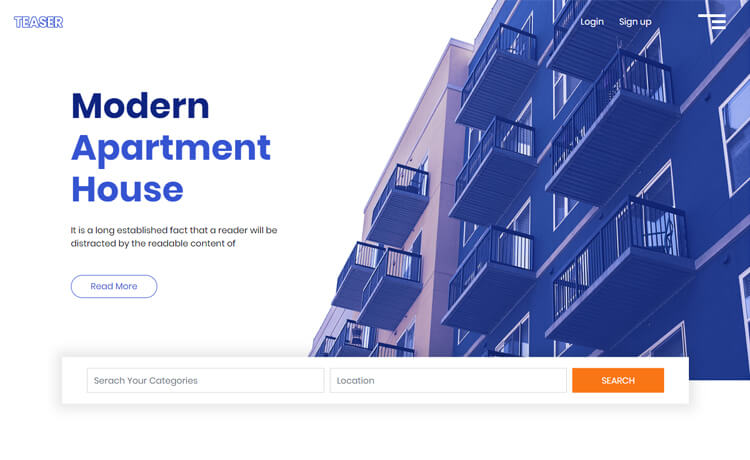 Free Bootstrap 4 HTML5 Real Estate Business Website Template