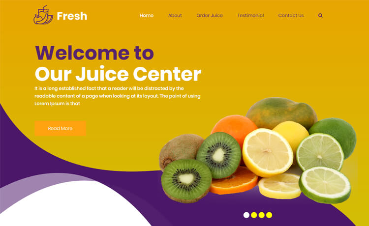 Free Bootstrap 4 HTML5 Food Business Website Template