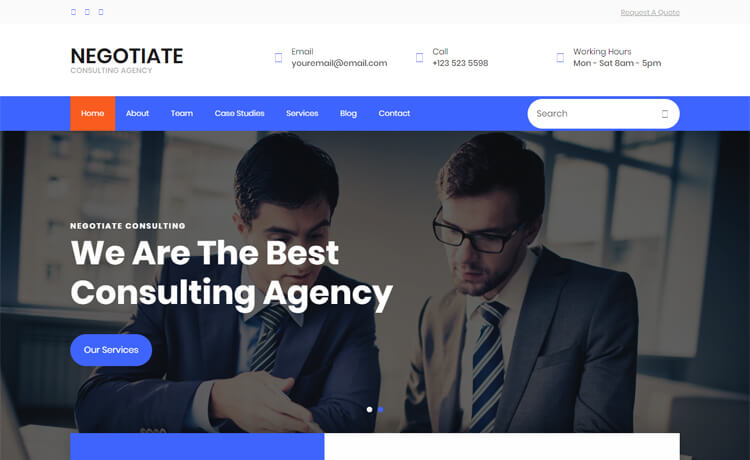 Free Bootstrap 4 HTML5 Responsive Consulting Agency Website Templates