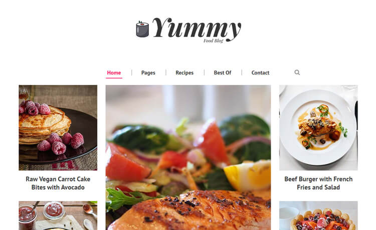 Free Bootstrap 4 HTML5 Food Blog Website Template