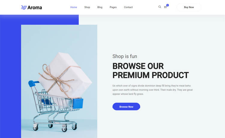 Free Bootstrap 4 HTML5 Online Shopping Website Template