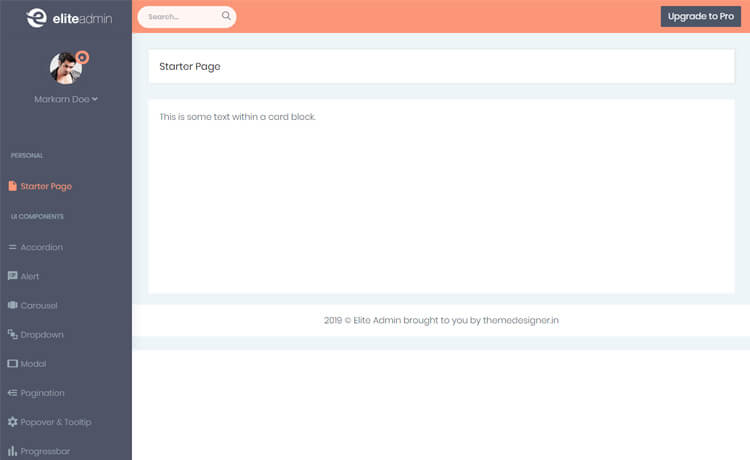 Free Angular 8 Admin Dashboard Template