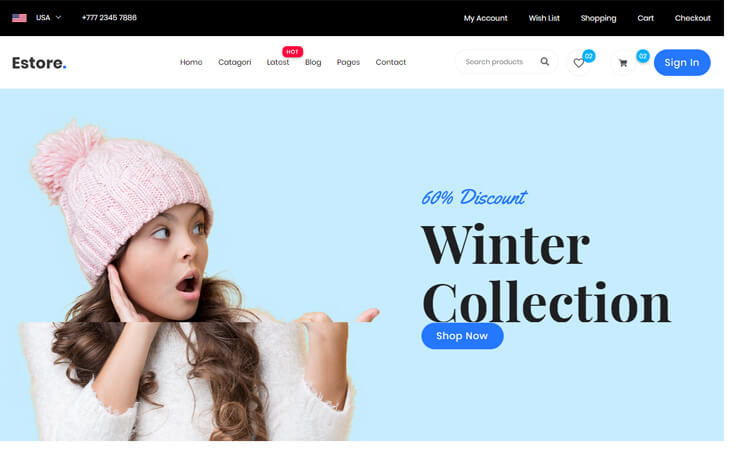 Free Bootstrap 4 HTML5 eCommerce Website Template