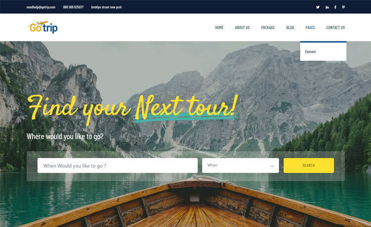 Free Bootstrap 4 HTML5 Travel Website Template