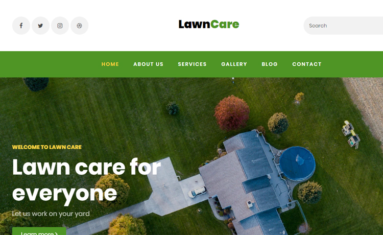 Free Bootstrap 4 HTML5 Lawn Care Website Template