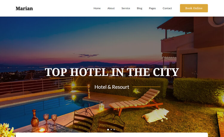 Free Bootstrap 4 HTML5 Responsive Hotel Website Template