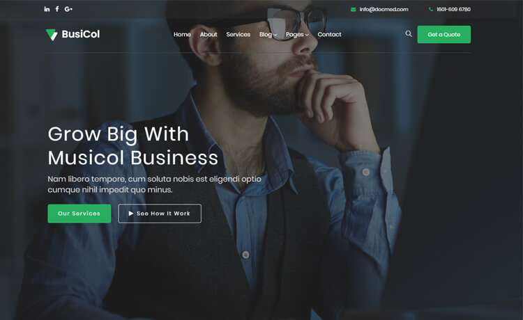 Free Bootstrap 4 HTML5 Responsive Business Website Template
