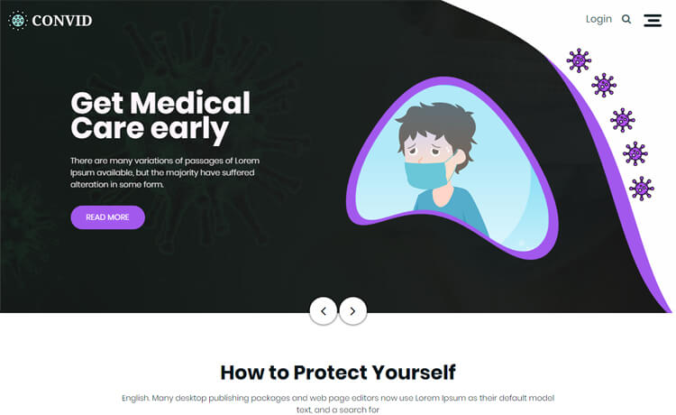 Free Bootstrap 4 HTML5 Responsive Medical Website Template