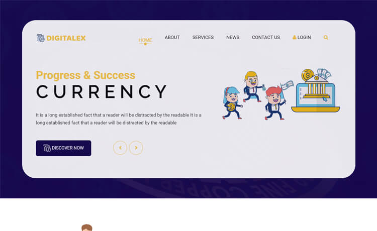 Free Bootstrap 4 HTML5 Responsive Financial Website Template