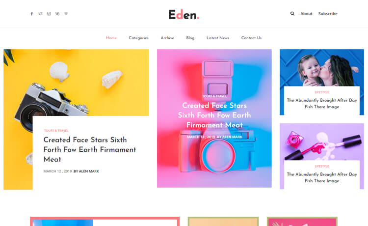 Free Bootstrap 4 HTML5 Responsive Magazine Website Template