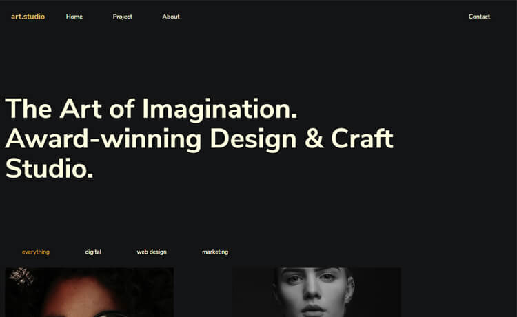 Free Bootstrap 4 HTML5 Responsive Portfolio Website Template