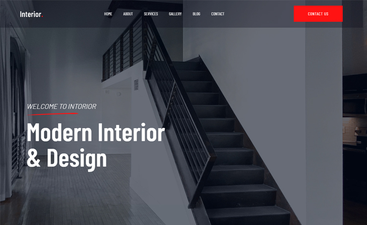 Free Bootstrap 4 HTML5 Interior Design Website Template