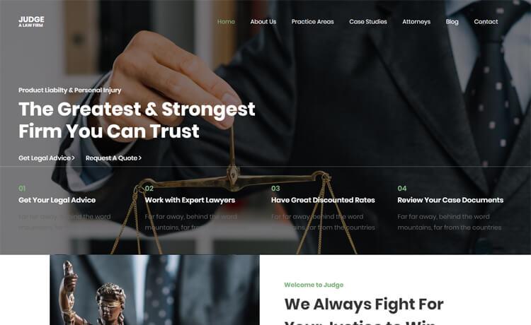 Free Bootstrap 4 HTML5 Law Firm Website Template
