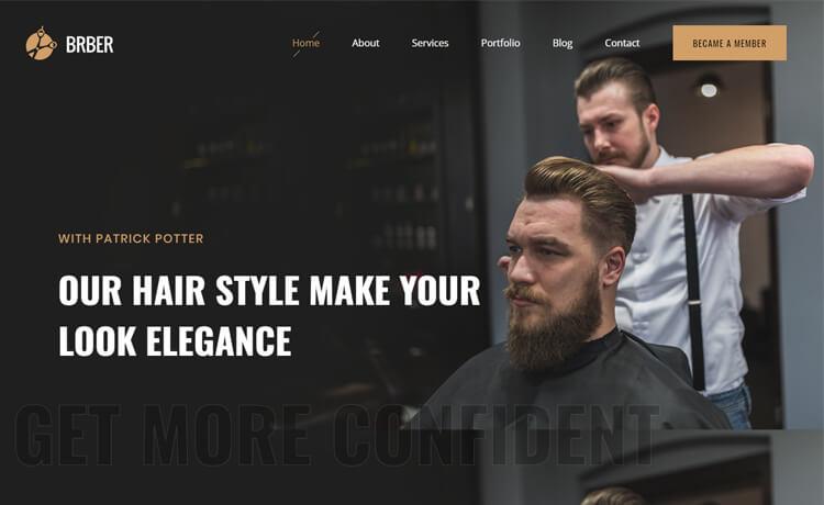 Free Bootstrap 4 HTML5 Barbershop Website Template