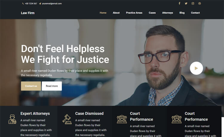Free Bootstrap 4 HTML5 Agency Website Templates