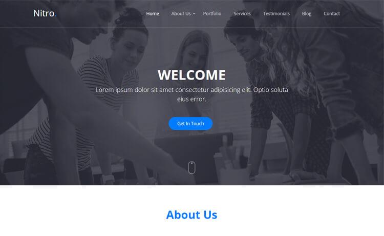 Free Bootstrap 4 HTML5 Portfolio Website Template